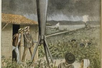 Farmers have searched for methods to control hail, including using cannons.