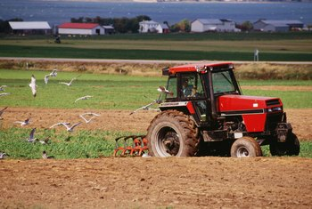 Government grants help farmers buy tractors.