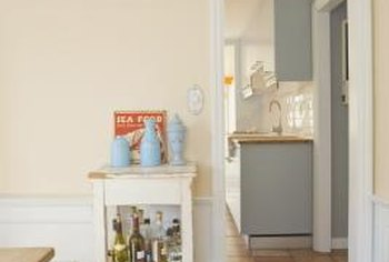 Transform your long and narrow room into a bar or designated party space.