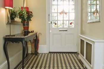 Your front door and entryway should be clutter free and decorated with a welcoming look and feel.