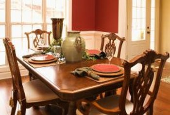 Dining tables combine design with functionality.