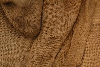 Burlap has an earthy, natural look thanks to its rough fibers.