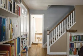 Adding color to the stair hallway brings personality to the space.