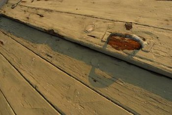 Use epoxy putty to repair rotten wood.