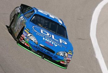 The #96 DLP HDTV Chevrolet competed in the NASCAR Nextel Cup Samsung/RadioShack 500.