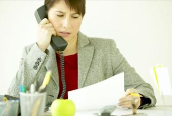 Administrative professionals need excellent phone skills.