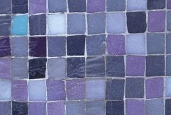 Some mosaics will have uneven grout joints, while others are uniform in size.