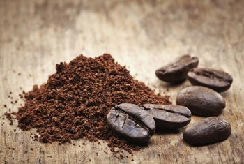 Coffee beans contain natural brown pigments.