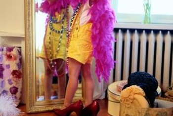 Little girls can play dress-up safely when the mirror is securely anchored.