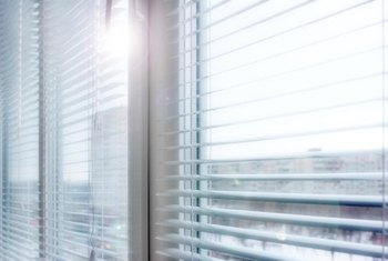 Dust, grime and pet dander often get on miniblinds.