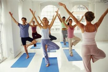 Group exercise takes on many different forms, from yoga to aerobics.