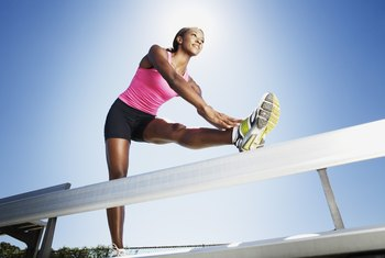 Stretch after running workouts to help prevent muscle soreness.