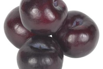 While the skin has a deep purple color, the flesh of Stanley plums is bright yellow.