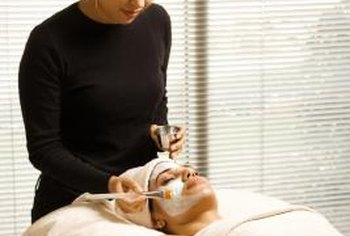 Estheticians give facials and other skin treatments.