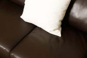 A leather sofa doesn't look quite so stuffy if you add the right accessories.