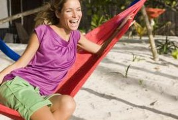 Hammocks can be made out of nets or woven fabric, such as canvas.