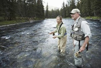 A professional guide knows the best fishing holes.