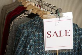 Display sale clothing on a separate rack.