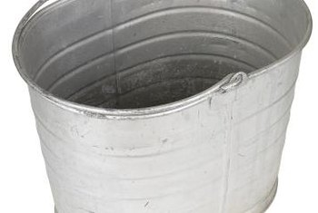 Galvanized tubs make sturdy, long-lasting garden planters.