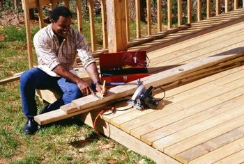 You can attach a deck extension to your existing structure.
