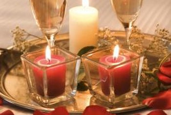 Candles are an easy, inexpensive way to make your bedroom feel more romantic.