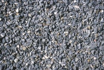 Never use rounded or pea gravel; use irregularly shaped crushed gravel.
