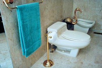Reinstall a toilet flange at the same level as the finished floor.