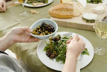 Healthy fats like olives feature heavily in the Mediterranean diet.