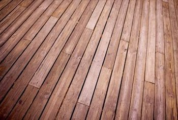 Seal a wooden deck annualy to maintain the appearance and prolong the life of the wood.