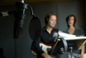 Song demos can be recorded in professional or home recording studios.