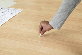 Mark the location of a urethane spill so you can focus your cleaning efforts.