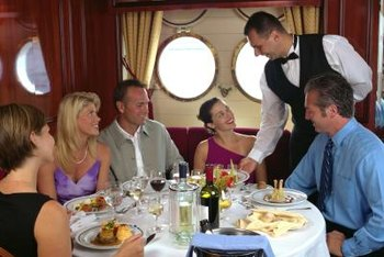 Cruise ships hire waiters for the dining pleasure of their passengers.