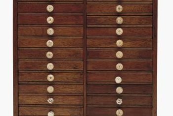 Drawer pulls can add personality and flair to furniture, especially with decorative paint effects.