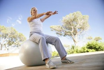 Get a full body workout with a stability ball.