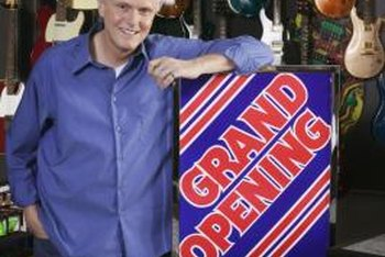 New businesses use a grand opening to attract customers.