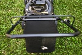 Damaging the blade by hitting a stump can freeze a lawnmower's starter.