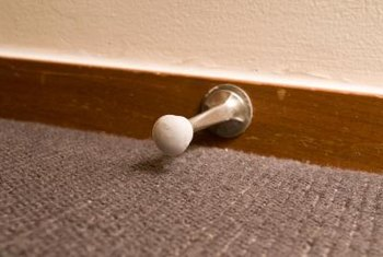 Remove baseboard before you restain it.