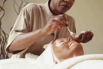 Estheticians specialize in facials.