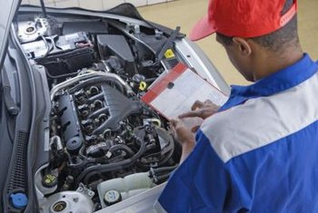 A mechanic's visual inspection may identify reasons for high hydrocarbon emissions.
