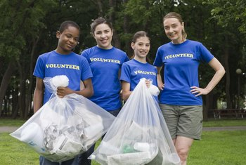 Some school classes require teens to volunteer for service hours.
