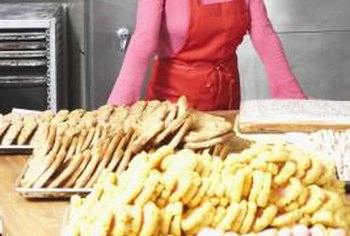 Many restaurants subcontract bakers to provide fresh baked goods.