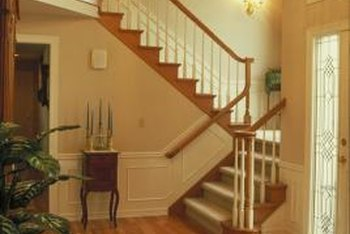 Install light switches at the top and bottom of the stairs.