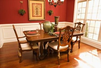 Chair-rail molding is often installed in dining rooms.
