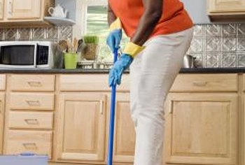 Laminate floors clean up quickly with a damp mop.