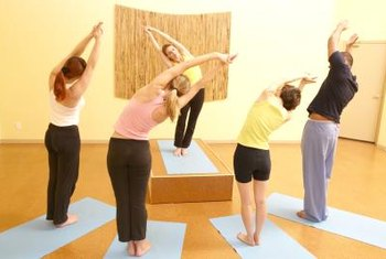 Yoga instructors can work part-time and make a good living.