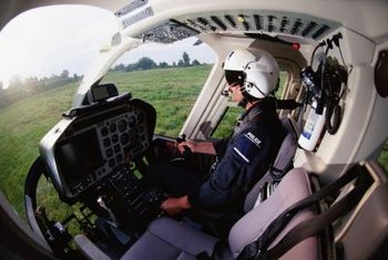 In a helicopter, the chief pilot flies from the front, right seat.