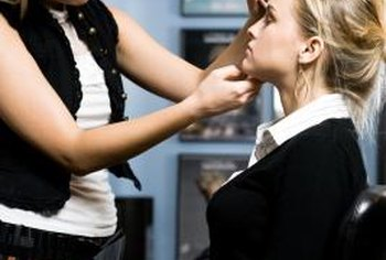 Makeup artistry classes teach students makeup application techniques.