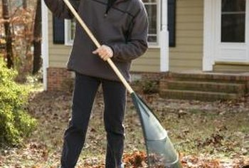 Lawn sweepers are more efficient and less time consuming than raking leaves.