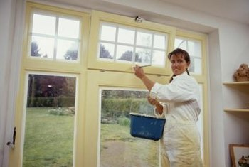 Remove old paint before repainting wood windows.