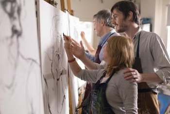 Although not necessarily mandatory, art classes can help artists develop their talent.